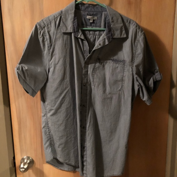 Calvin Klein Other - Calvin Klein Gray Snap Button Shirt Sz L
